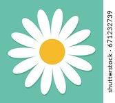 white daisy chamomile. cute... | Shutterstock . vector #671232739