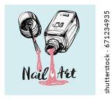 nail polish art graphic....   Shutterstock .eps vector #671234935