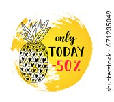 only today  50  sale banner on...   Shutterstock .eps vector #671235049