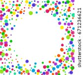 watercolor rainbow colored... | Shutterstock . vector #671236621
