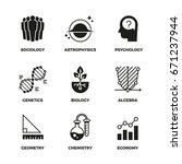 science vector icons set.... | Shutterstock .eps vector #671237944