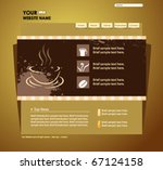 website design template vector... | Shutterstock .eps vector #67124158