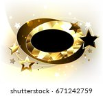 dynamic  oval  polygonal ... | Shutterstock . vector #671242759