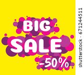 vector illustration of big sale ... | Shutterstock .eps vector #671244511