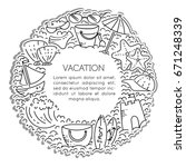 design elements of vacation at... | Shutterstock .eps vector #671248339