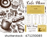 vector card design with ink... | Shutterstock .eps vector #671250085