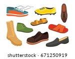 male man season shoes in flat... | Shutterstock .eps vector #671250919