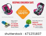 car seat safety. keeping... | Shutterstock .eps vector #671251837