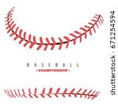baseball competition poster red ... | Shutterstock .eps vector #671254594