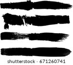 grunge paint stripe . vector... | Shutterstock .eps vector #671260741