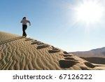 Runner Training On Dune...