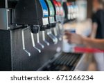 water soft drinks carbonated... | Shutterstock . vector #671266234