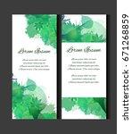 set of templates of vertical... | Shutterstock .eps vector #671268859