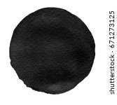 watercolor abstract black... | Shutterstock . vector #671273125