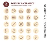 pottery workshop  ceramics... | Shutterstock .eps vector #671288515