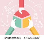 vector flat linear illustration ... | Shutterstock .eps vector #671288839