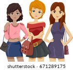 illustration featuring a group... | Shutterstock .eps vector #671289175