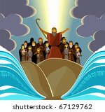 the escape from egypt | Shutterstock . vector #67129762