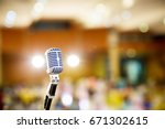 microphone vintage style in... | Shutterstock . vector #671302615