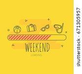 loading holiday   illustration...   Shutterstock .eps vector #671305957