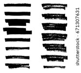 vector highlighter brush lines. ... | Shutterstock .eps vector #671307631