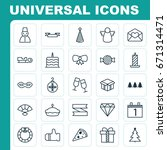 holiday icons set. collection... | Shutterstock .eps vector #671314471