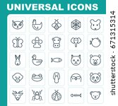 zoology icons set. collection... | Shutterstock .eps vector #671315314