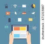 mobile applications. | Shutterstock .eps vector #671315887