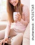 beautiful young brunette...   Shutterstock . vector #671317165