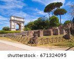 rome  italy   2 july 2017   the ... | Shutterstock . vector #671324095