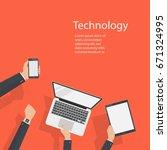 hand of businessman vector set...   Shutterstock .eps vector #671324995