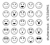 smiley expressions | Shutterstock .eps vector #671336941