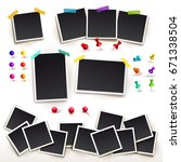 collection of square frame... | Shutterstock .eps vector #671338504