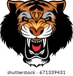 black tiger head | Shutterstock .eps vector #671339431