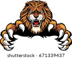 Stock vector lion brand logo 671339437