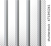 prison bars isolated vector... | Shutterstock .eps vector #671341261