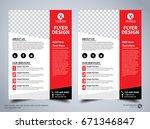 flyer design template vector ... | Shutterstock .eps vector #671346847