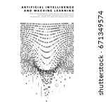 artificial intelligence and... | Shutterstock .eps vector #671349574