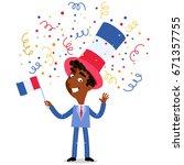 vector cartoon illustration of... | Shutterstock .eps vector #671357755