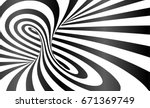 twisted stripes optical... | Shutterstock . vector #671369749