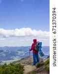 on summer bright day tourist... | Shutterstock . vector #671370394