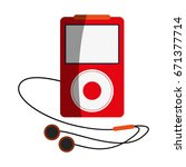 portable music player with...   Shutterstock .eps vector #671377714