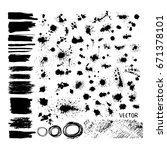 set of blots. vector | Shutterstock .eps vector #671378101
