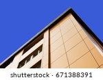 aluminum composite panels to... | Shutterstock . vector #671388391