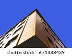 aluminum composite panels to... | Shutterstock . vector #671388439