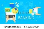 online banking and accounting... | Shutterstock .eps vector #671388934
