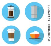 coffee icon | Shutterstock .eps vector #671395444