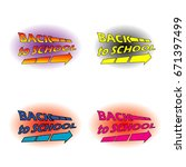 back to school set | Shutterstock .eps vector #671397499