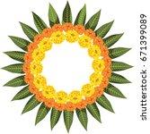 vector illustration of flower... | Shutterstock .eps vector #671399089