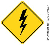 danger high voltage sign | Shutterstock .eps vector #671399614